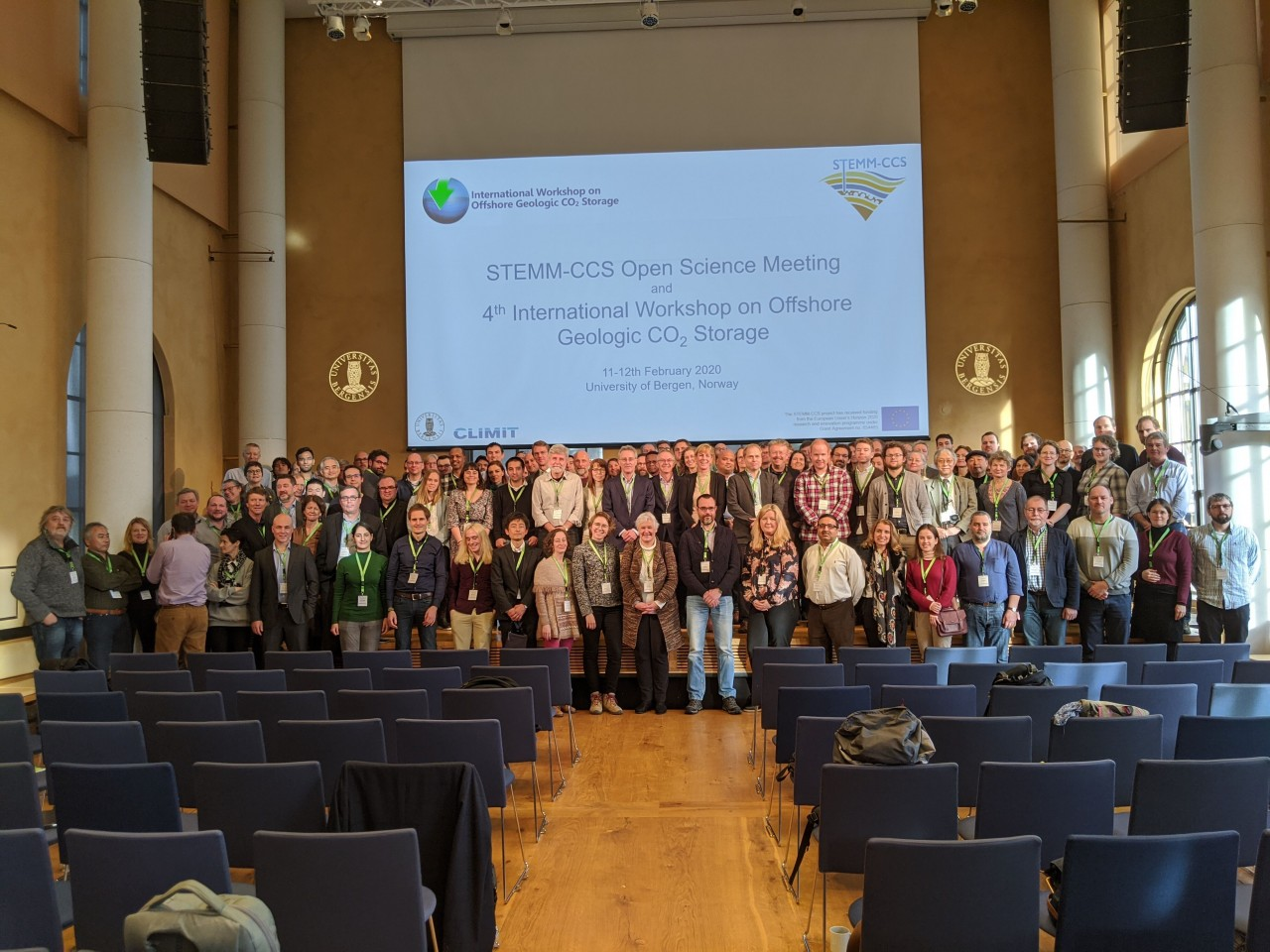 Group photo of the Offshore CCS Workshop and STEMM-CCS Open Science attendees